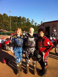 Myra, June & Jerry at Dirtbike