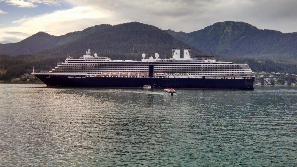 The cruise ship, HollandAmerica's Noordam
