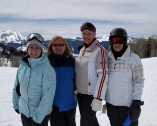 Susan, Myra, Sue, Barbara at Crested Butte 2016