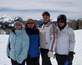 Susan, Myra, Sue, Barbara at Crested Butte 2016