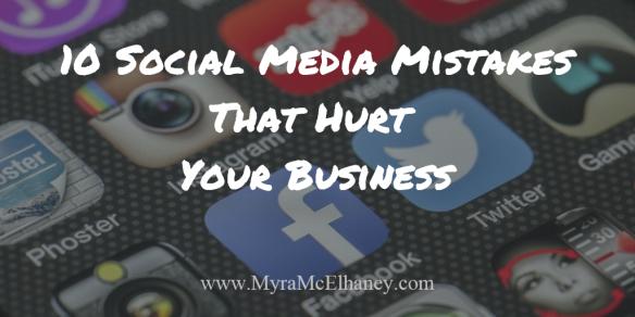 10 Social Media Mistakes
