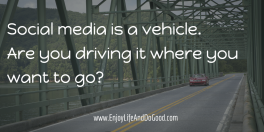 Social media is a vehicle (my car)